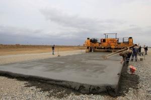бетонные работы спецстрой на аэродроме Моздок